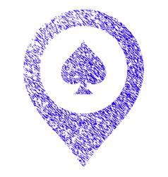 casino map marker icon grunge watermark vector image vector image