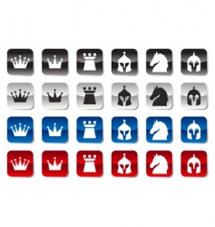 chess icons vector image vector image