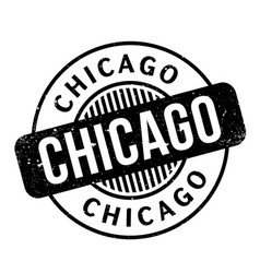 chicago rubber stamp vector image