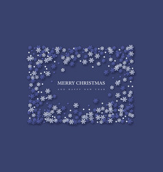 christmas holiday frame with paper cut style vector image
