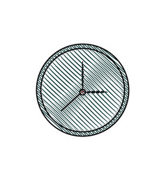 clock watch time element vector image