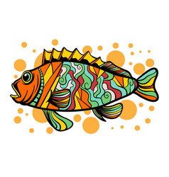 Colorful fish with pop art style vector