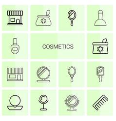 Cosmetics icons vector
