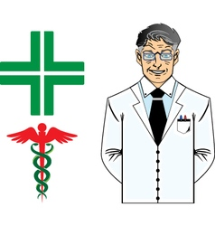 Dottore anziano vector
