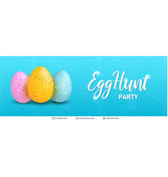 easter holiday greeting card or banner template vector image
