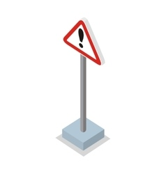 Exclamation Mark Road Sign vector