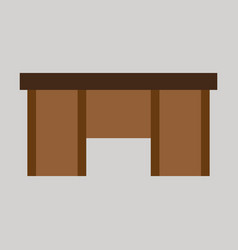 Flat icon on theme arabic business office table vector