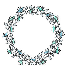 flower hand-drawn gentle frame vector image