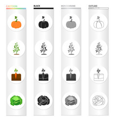 Garden plot vitamins and other web icon in vector