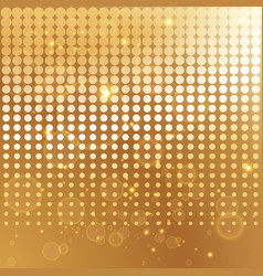 Gold halftone background template vector