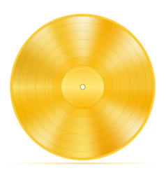 Gold vinyl disk stock vector