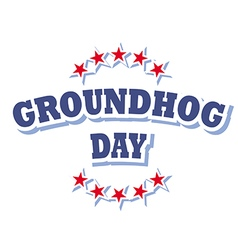 Groundhog Day logo symbol isolated vector