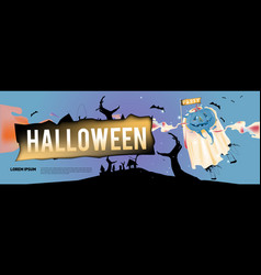 Halloween pumpkins for poster and banner vector