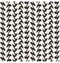 Hand drawn vertical zigzag lines seamless vector