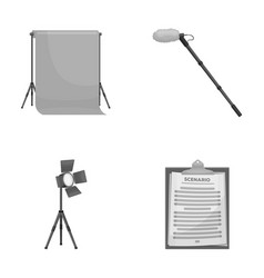 Hromakey script and other equipment making vector