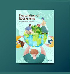 Information about world environment daysave earth vector