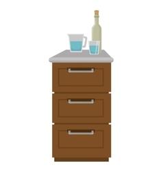 Kitchen furniture wooden vector