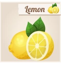 Lemon Detailed Icon vector image