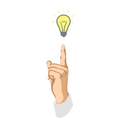 light bulb with concept of idea vector image