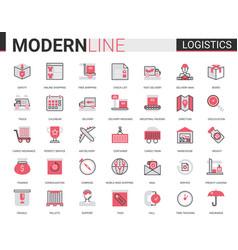 logistics transportation delivery service flat vector image