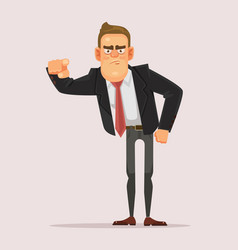 man businessman boss office worker pointing finger vector image