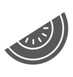 Melon glyph icon fruit and vitamin diet sign vector
