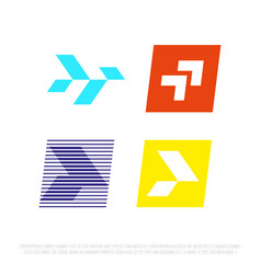 modern professional icon set arrow in technology vector image