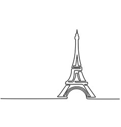 Paris eiffel tower icon vector