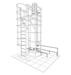 Petroleum gas industrial equipment tracing vector