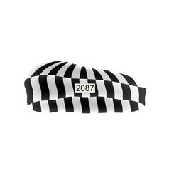 prison cap in black and white design vector image