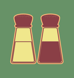 Salt and pepper sign cordovan icon and vector