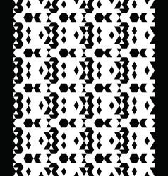 seamless monochrome geometric patterns vector image