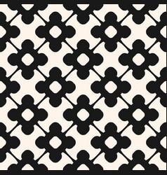 Seamless pattern monochrome floral ornamental vector