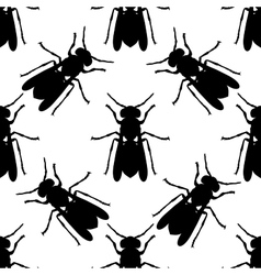 Seamless pattern with Wasp hand-drawn Wasp vector image vector image
