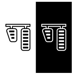 Set line car gas and brake pedals icon isolated on vector