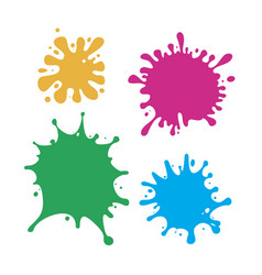 set multicolored blots vector image