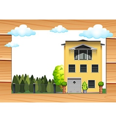 Single house and yard at daytime vector