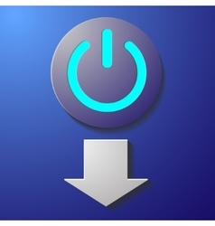 Start button violet vector