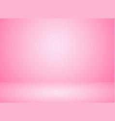 Studio room interior pink color background vector