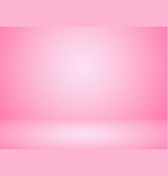 studio room interior pink color background with vector image