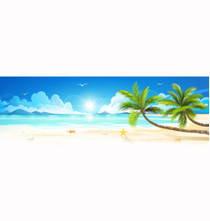 Summer holidays on tropical beach vector