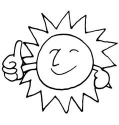 Sun smile vector