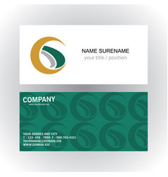 swirl letter g company logobusiness card vector image