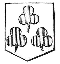 Trefoils have argent three trefoils and gules vector