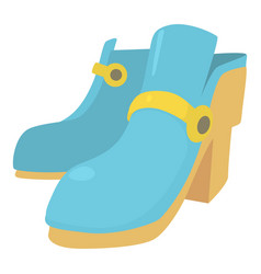 two boots icon cartoon style vector image