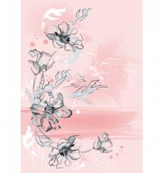 vertical floral background vector image