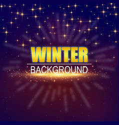 Winter background golden star image vector