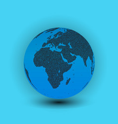 world map in globe shape earth vector image