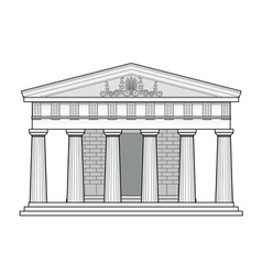 greek doric temple vector image