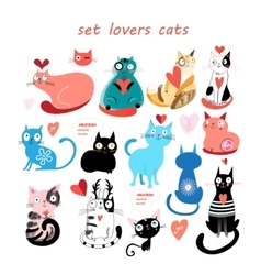set of cats vector image